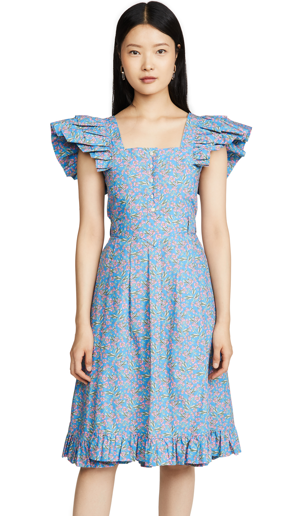 Buy Paco Rabanne Ruffle Shoulder Dress online beautiful Paco Rabanne Clothing, Dresses