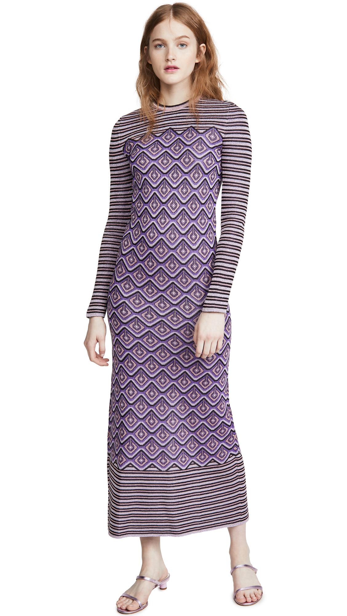 Buy Paco Rabanne Metallic Jacquard Stripes and Argyle Dress online beautiful Paco Rabanne Clothing, Dresses