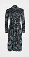 Paco Rabanne Long Sleeve Black Dot Dress