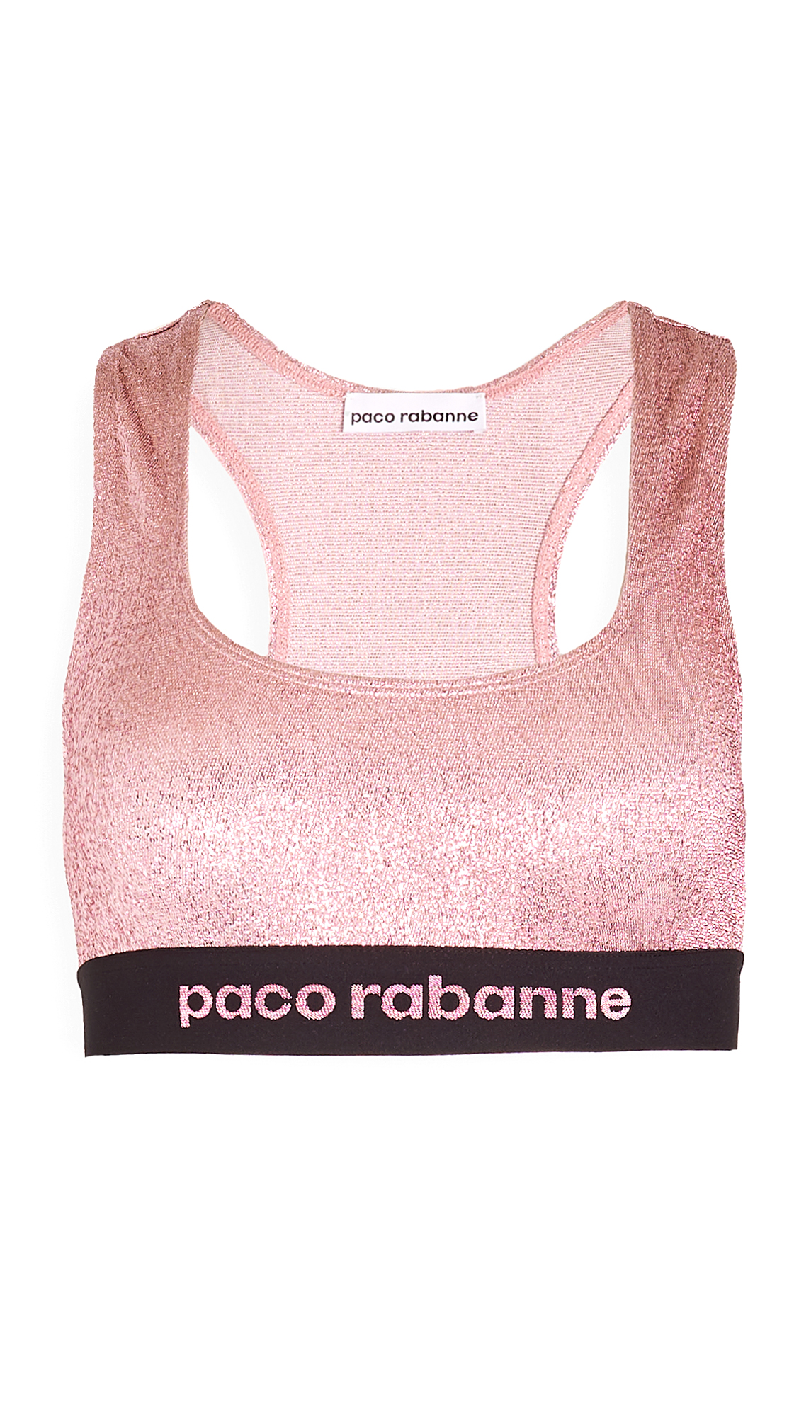 Paco Rabanne Metallic Sports Bra - 30% Off Sale
