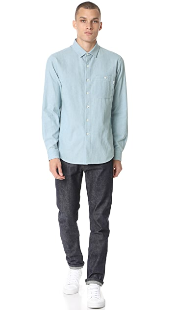 Patrik Ervell Light Indigo Denim Button Down Shirt