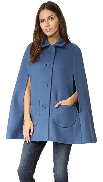 Paul & Joe Sister Anatole Cape Coat with Kitty Pockets