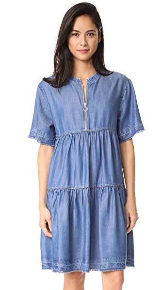 Paul & Joe Sister Lola Tiered Dress In Denim