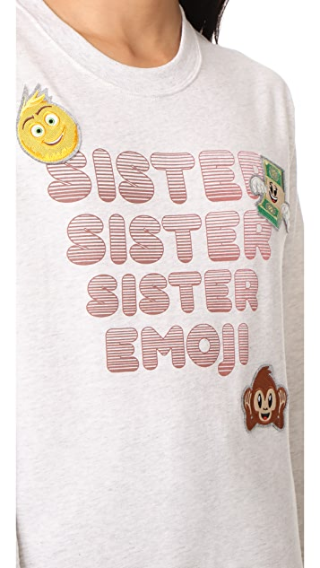 Paul & Joe Sister x Emoji Movie Iconic Sweatshirt
