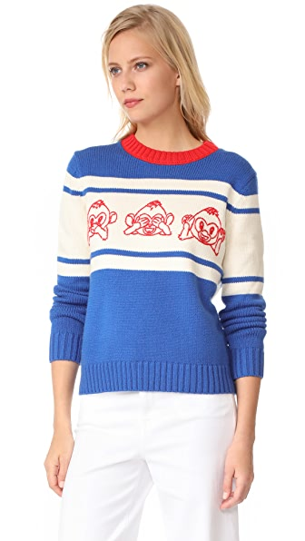 Paul & Joe Sister Emoji Sweater - Bleu