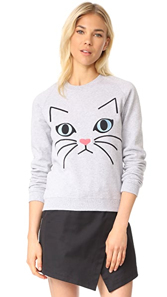 Paul & Joe Sister Ze Cat Sweatshirt - Gris