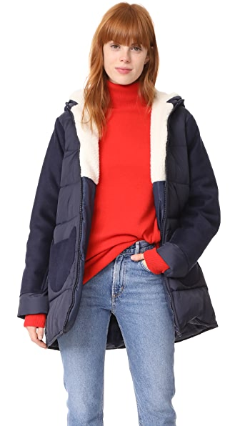 Paul & Joe Sister Cat Coat - Navy