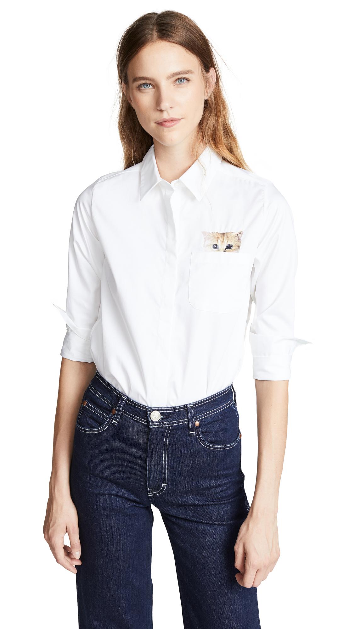Paul & Joe Sister Leontine Button Down Shirt In Blanc
