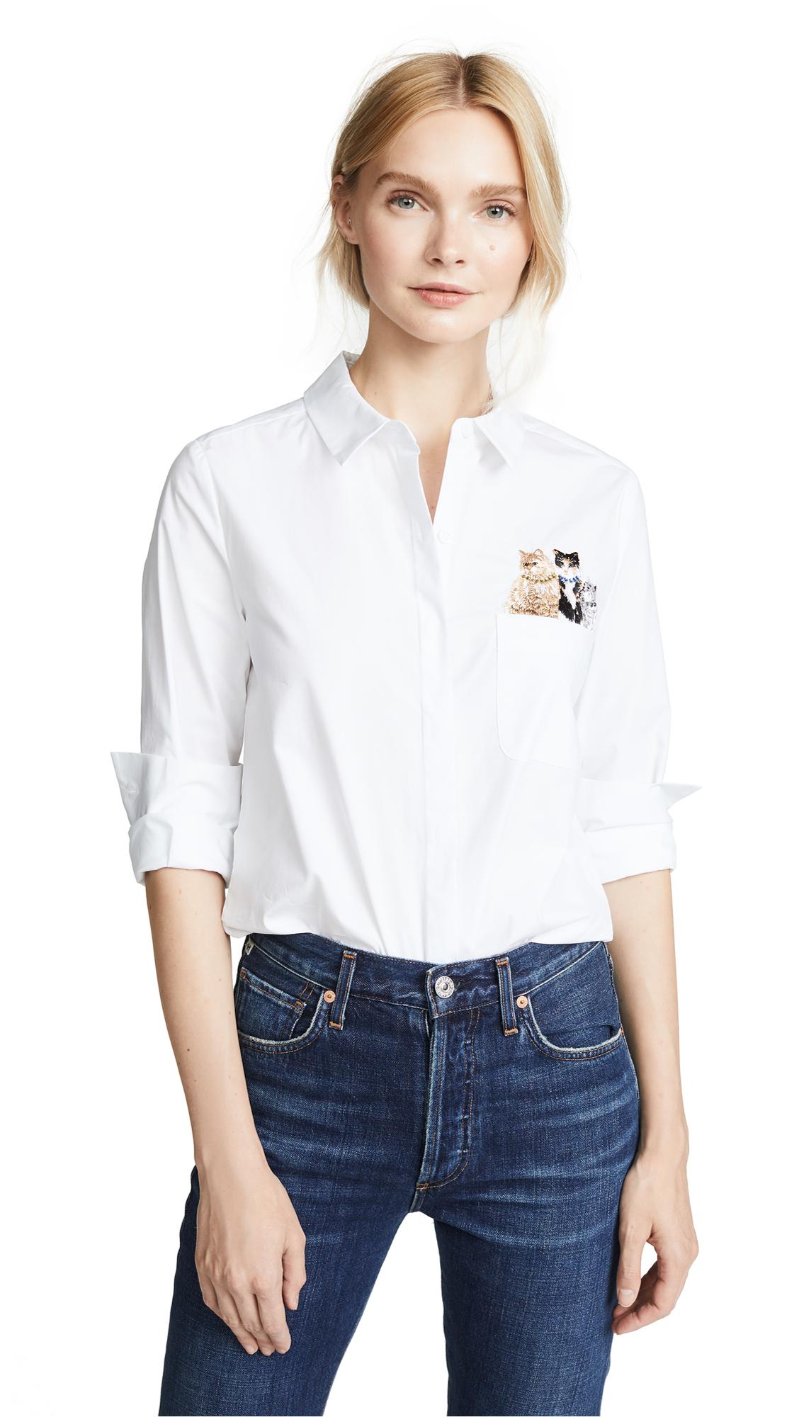 Paul & Joe Sister Chouchou Button Down Shirt In White
