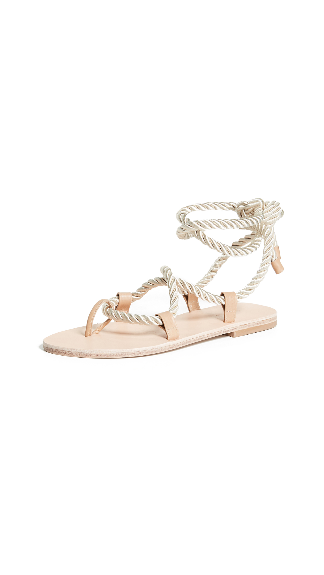 The Palatines Helica Wrap Sandals In Champagne