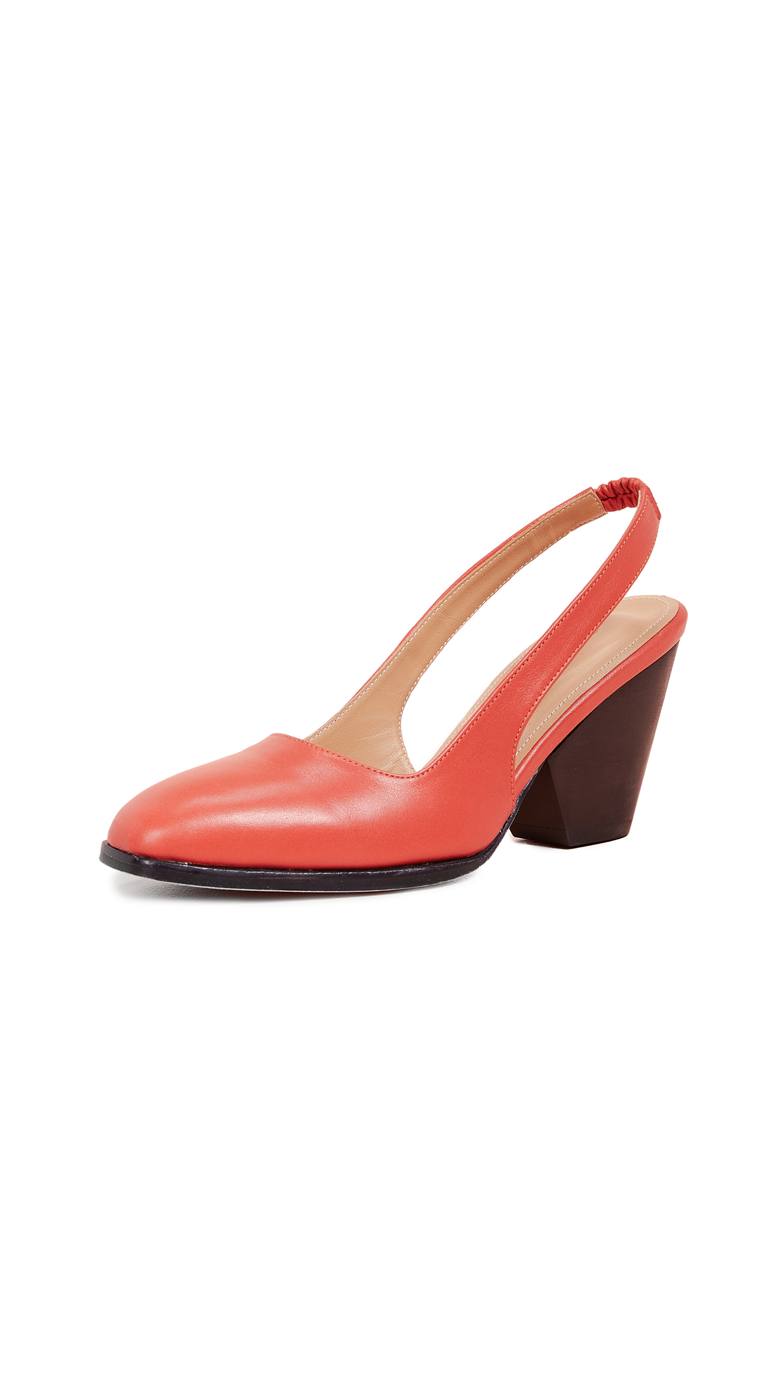 THE PALATINES Imago Slingback Pumps in Pomegranate