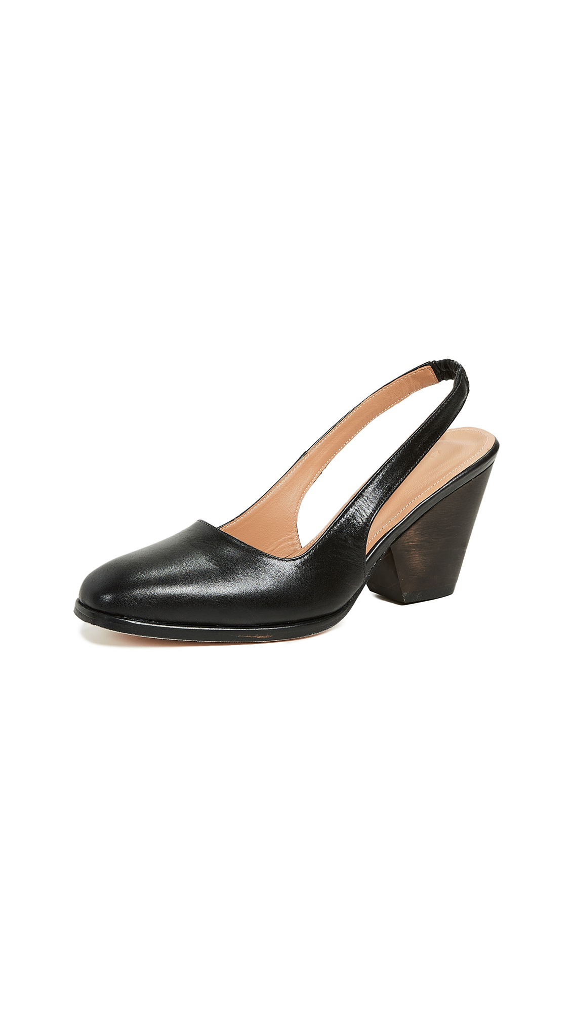 THE PALATINES Imago Slingback Pumps in Black