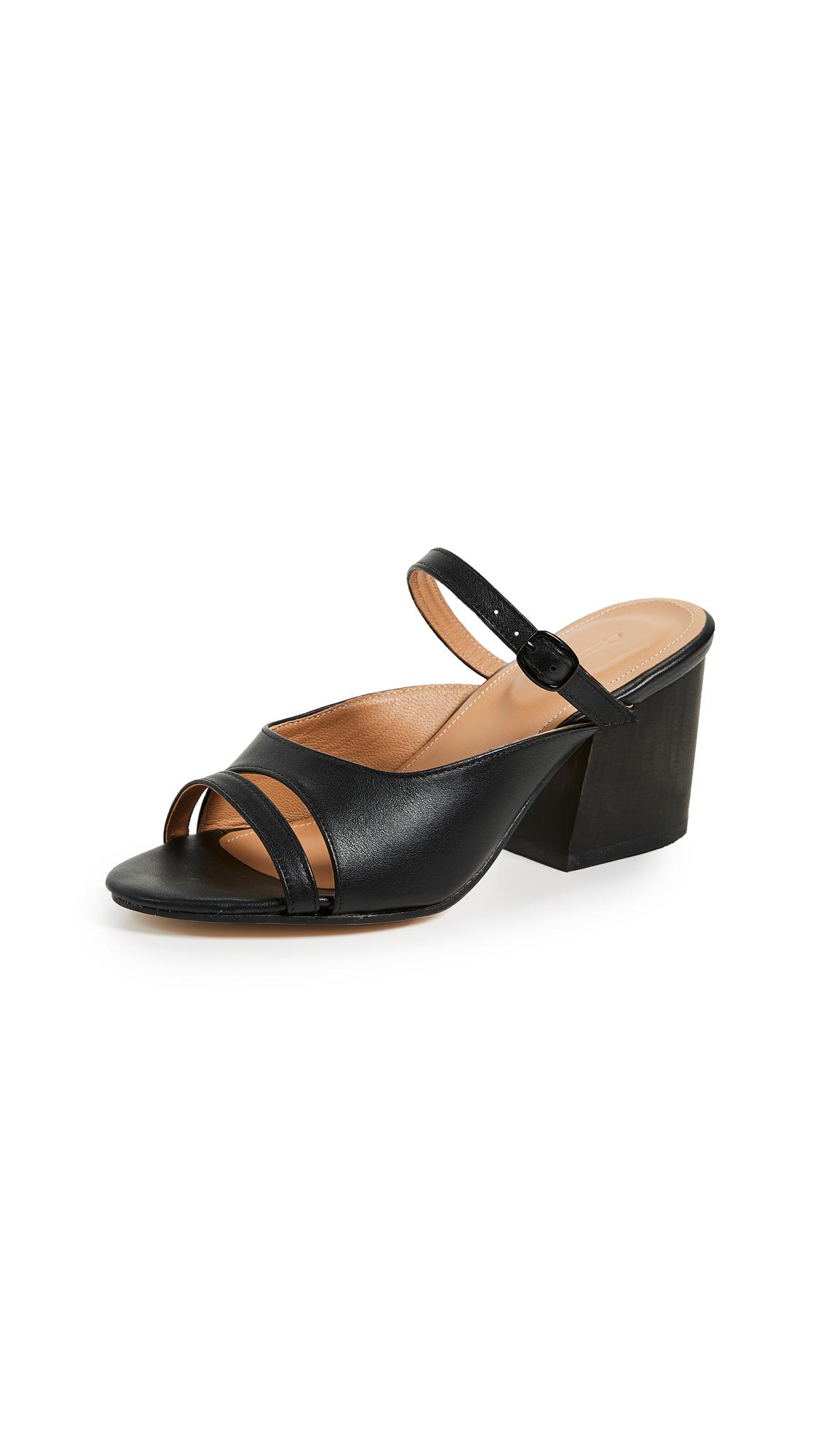 The Palatines Seta Buckle Slides - Black/Black