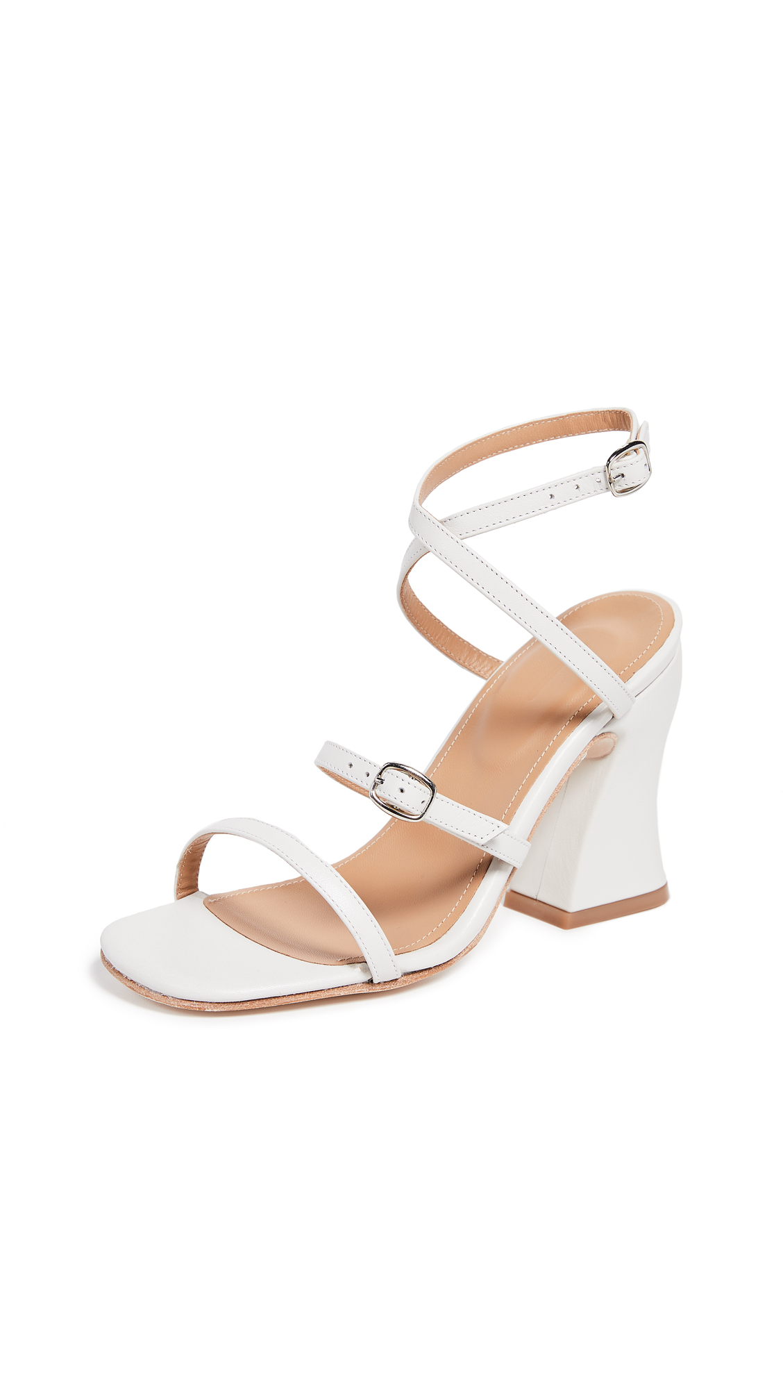 The Palatines Dalia Curved Heel Sandals - White