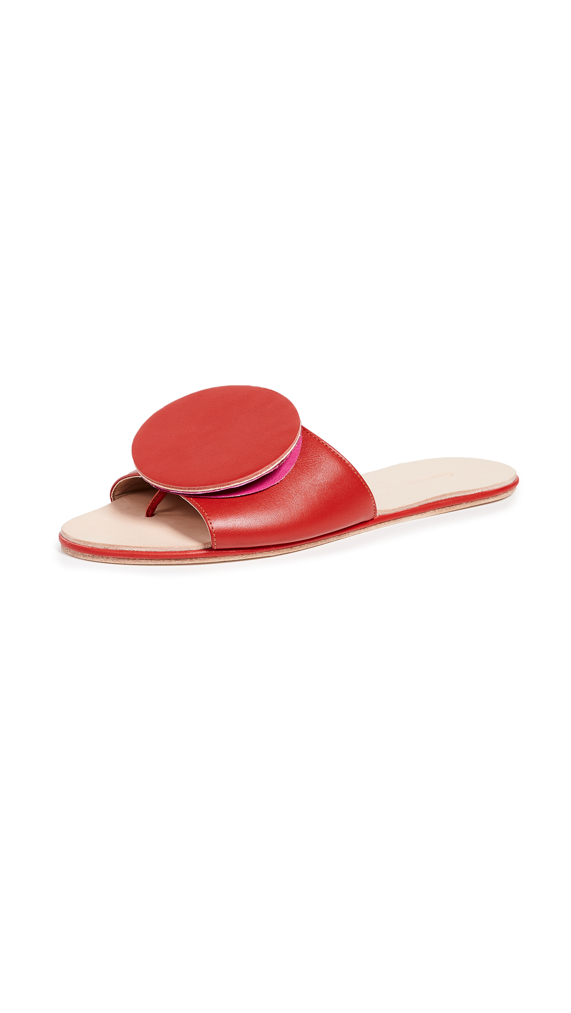 The Palatines Caeleste Origami Slides - Bright Red/Light Pink