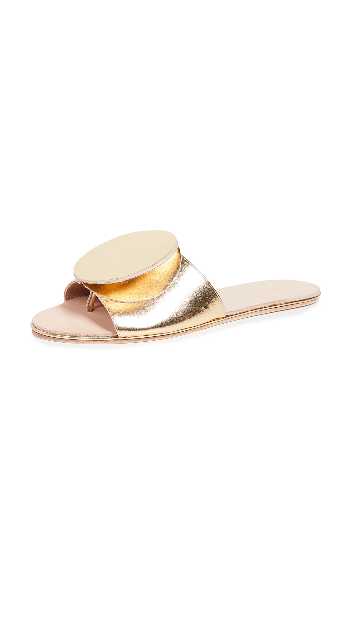 THE PALATINES Caeleste Origami Slides in Gold