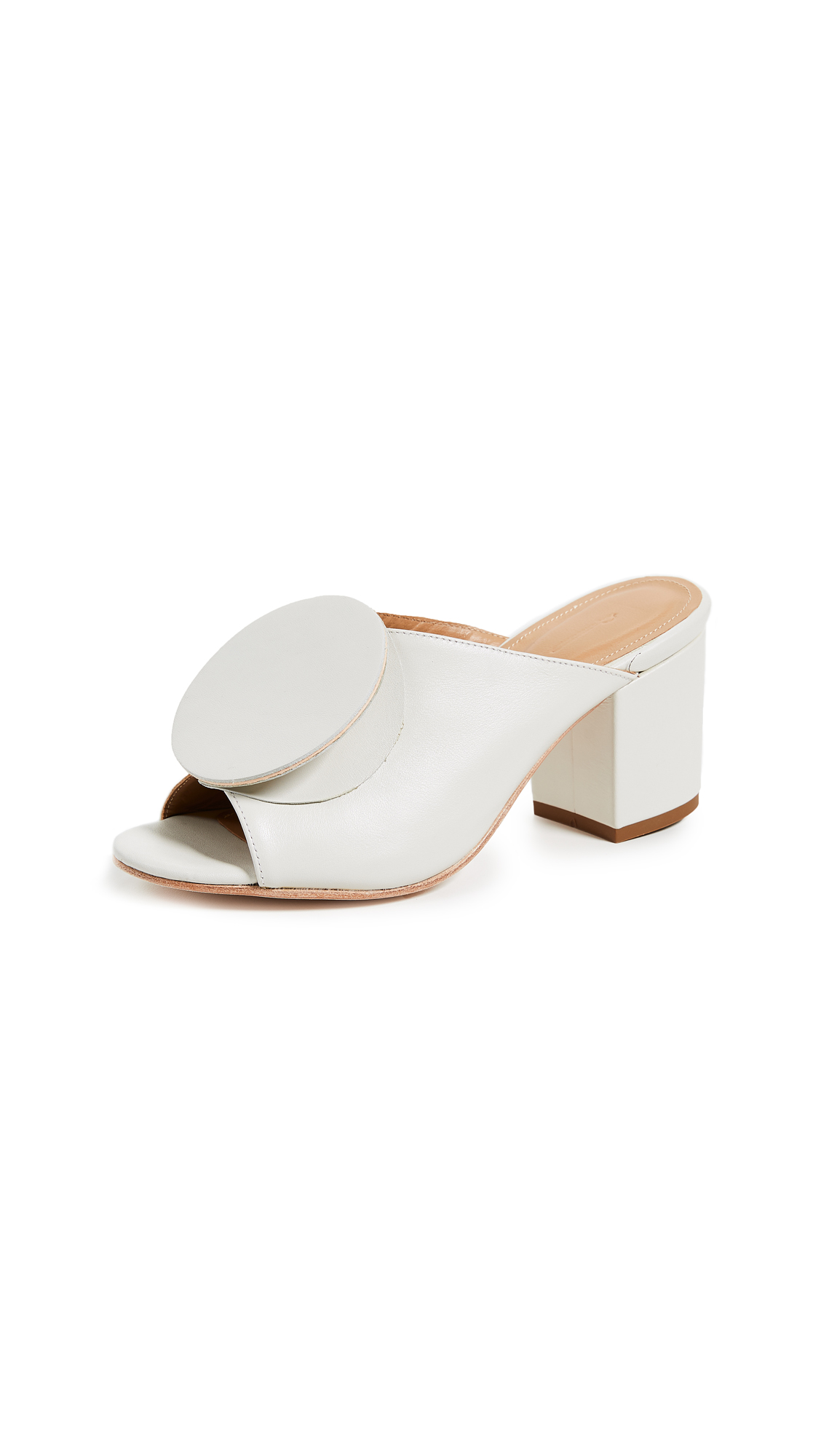 THE PALATINES Salio Origami Mules in White/White