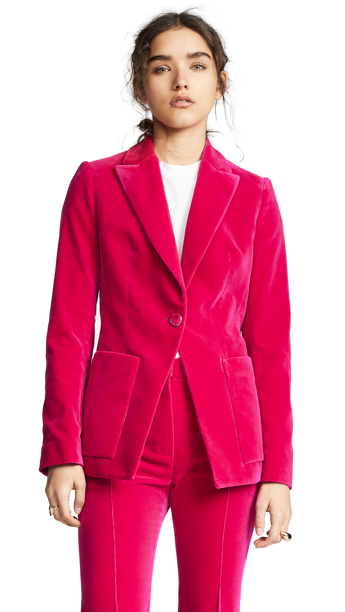 PALLAS Droide Fitted Blazer in Pink