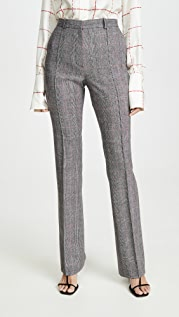 Pallas Straight Plaid Trousers