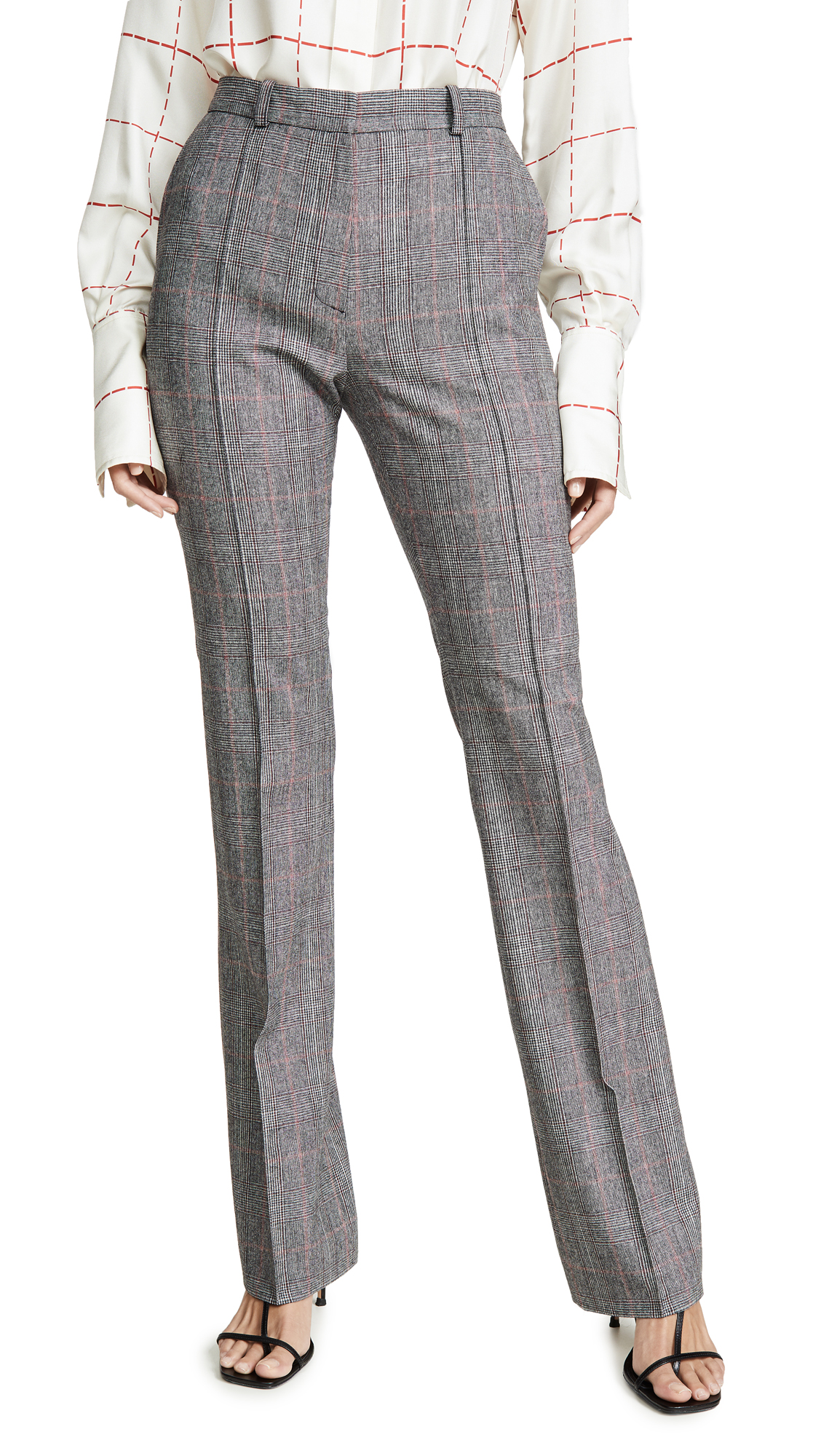 Buy Pallas online - photo of Pallas Straight Plaid Trousers
