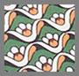 винтажная серо-зеленая водяная лилия