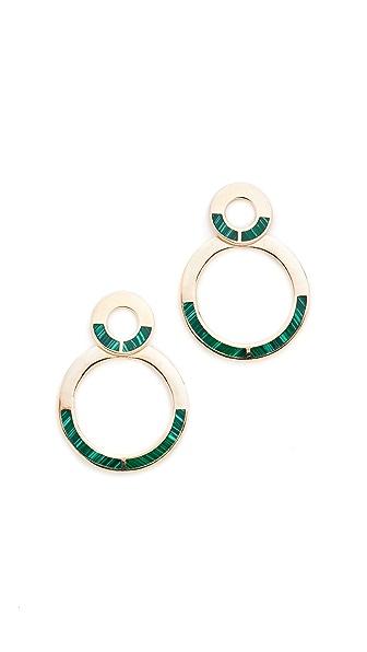 Pamela Love Quarter Drop Earrings