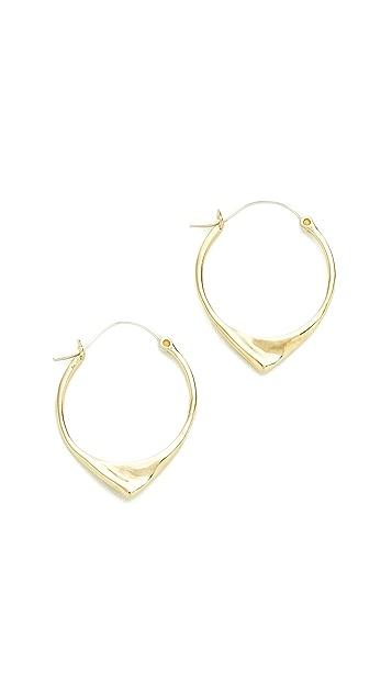 Pamela Love Kay Hoop Earrings