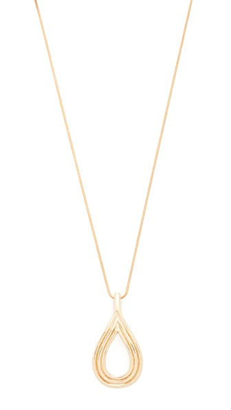 Pamela Love Arco Pendant Necklace In Brass