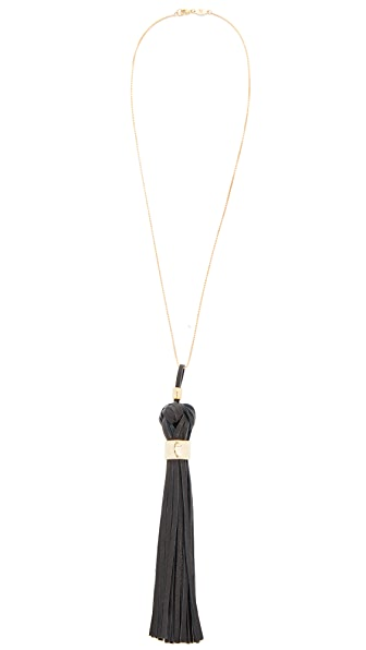 Pamela Love Ximena Necklace In Brass/Black