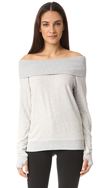 Pam & Gela Off Shoulder Sweatshirt