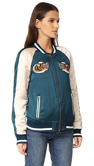 Pam & Gela Embroidered Bomber Jacket