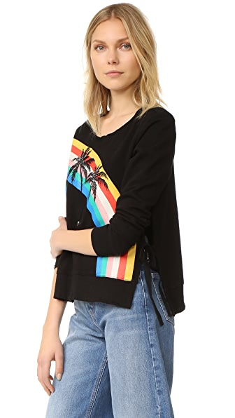 Pam & Gela Rainbow Palm Tree Sweatshirt