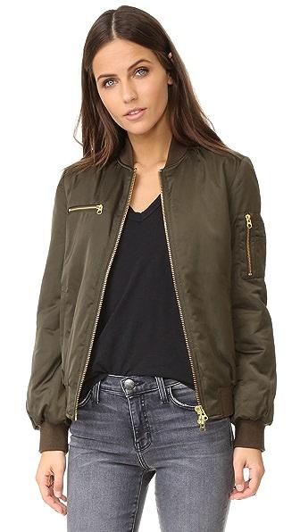 Pam & Gela Zipper Bomber Jacket - Ivy