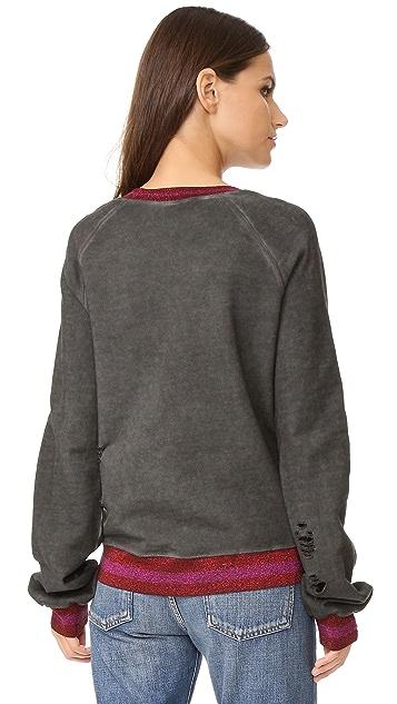 Pam & Gela Embroidered Crew Neck Sweatshirt