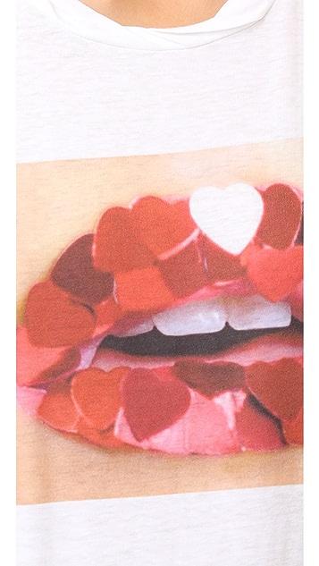 Pam & Gela Heart Mouth Frankie Tee