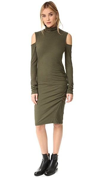 Pam & Gela Cold Shoulder Turtleneck Dress