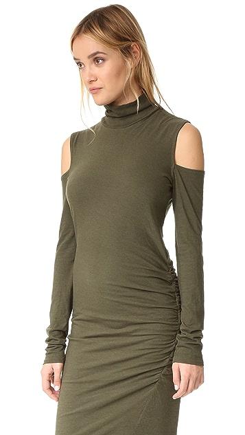 Pam & Gela Cold Shoulder Turtleneck Dress