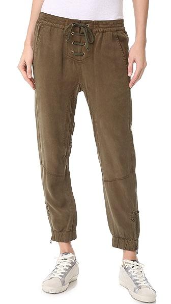Pam & Gela Lace Up Closure Pants