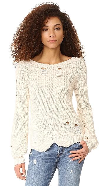Pam & Gela Shredded Sweep Sweater