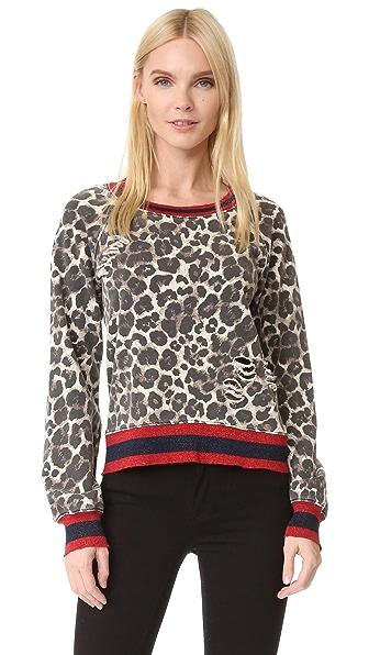 Pam & Gela Leopard Print Sweatshirt - Leopard