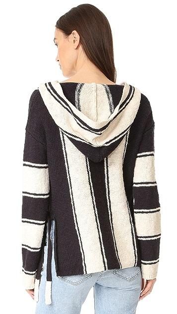 Pam & Gela Striped Baja Sweater
