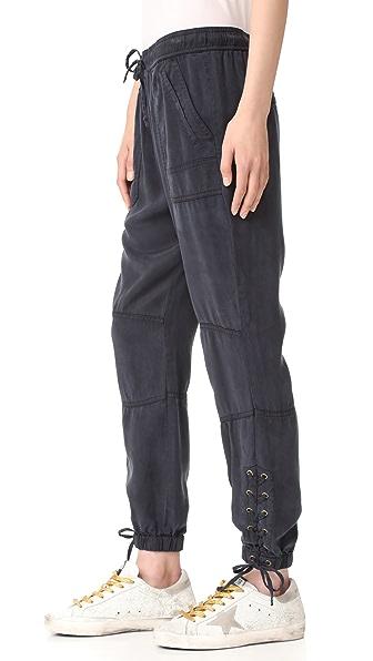Pam & Gela Lace Up Pants - Graphite