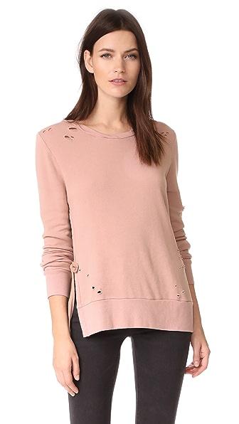 Pam & Gela Side Slit Sweatshirt - Roseland