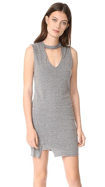Pam & Gela Choker Dress - Heather Grey