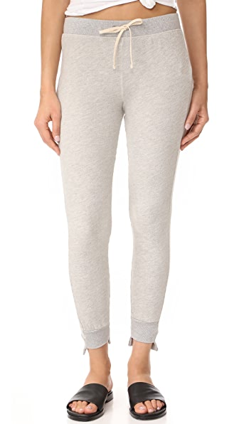 Pam & Gela Uneven Sweatpants - Heather Grey