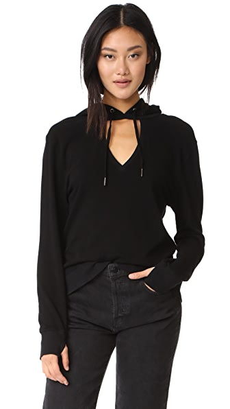 Pam & Gela V Neck Sweatshirt - Black