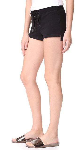 Pam & Gela Cropped Lace Up Shorts