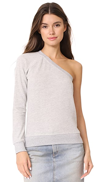 Pam & Gela One Sleeve Sweatshirt - Heather Grey