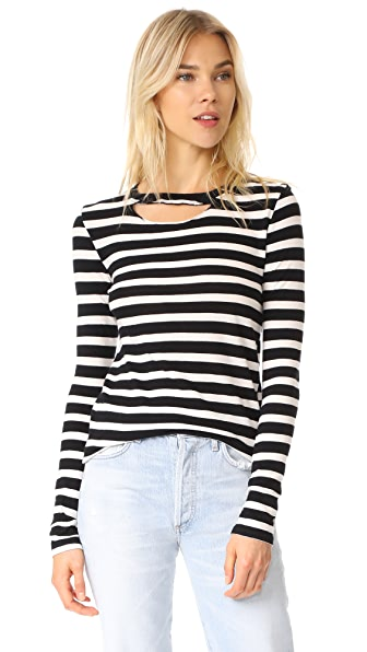 Pam & Gela Stripe Top - Black/White