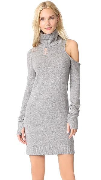 Pam & Gela Turtleneck Cutout Sweater Dress